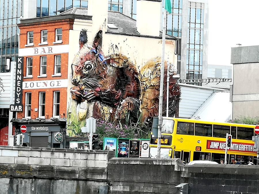 Дублин. Что рисуют на стенах уличные художники?