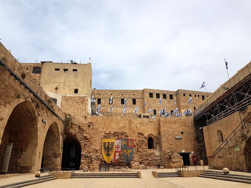 Израиль. Старинная крепость госпитальеров в Акко